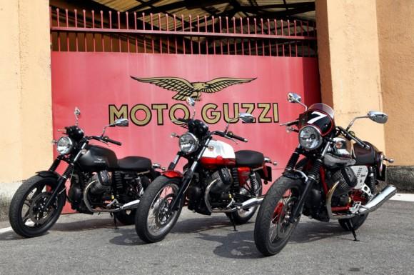 2013 Moto Guzzi V7 Stone, V7 Special and V7 Racer