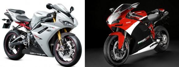 2012 Triumph Daytona 675R VS 2012 Ducati 848 EVO Corse SE