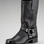 Frye Harness Black 12R Chain Boot