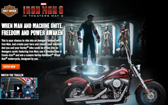 Marvel Comics Team Up Again again with Harley-Davidson for Iron Man 3