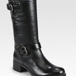 Prada Leather Motorcycle Boot