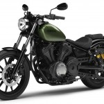 2014 Yamaha XV950R Camo Green Front Side
