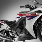 2013 Honda CBR500R Pearl Himalayas White Side