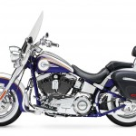 2014 Harley-Davidson CVO Softail Deluxe Candy Cobalt and White Gold Pearl_1
