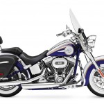 2014 Harley-Davidson CVO Softail Deluxe Candy Cobalt and White Gold Pearl_2