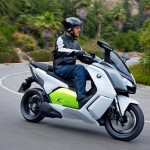 2014 BMW C evolution Electric Scooter In Action_3