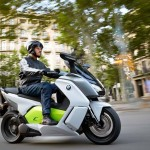 2014 BMW C evolution Electric Scooter In Action_5