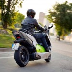 2014 BMW C evolution Electric Scooter In Action_7
