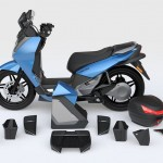 2014 Vectrix VT-1 Electric Scooter Modular Parts