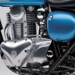 2014 Kawasaki Estrella 250 Candy Caribbean Blue Engine Cover
