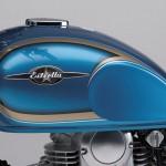 2014 Kawasaki Estrella 250 Candy Caribbean Blue Fuel Tank