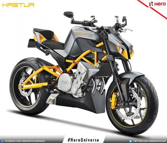 2015 Hero Hastur 620cc Streetfighter Concept