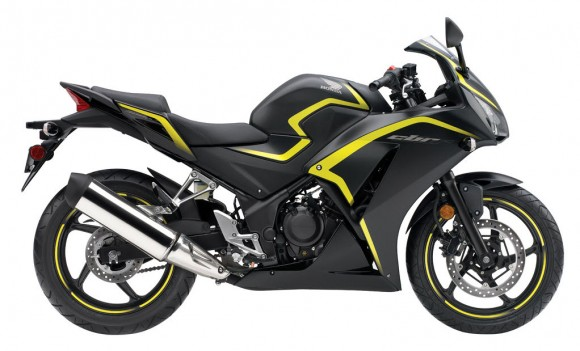 2015 Honda CBR300R USA-Specs Matte Black Metallic with Yellow Striping