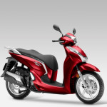 2016 Honda SH300i Scooter Pearl Siena Red