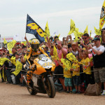 Rossi Attends the 2015 Goodwood Festival of Speed with Yellow-Black Yamaha YZR M1_13