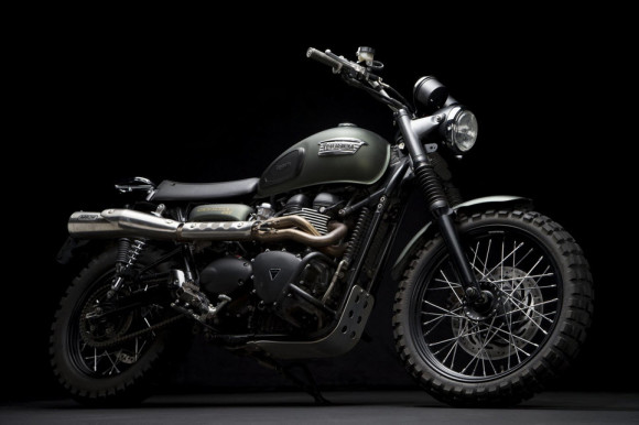 Triumph Scrambler Jurassic World Motorcycle Matte Green